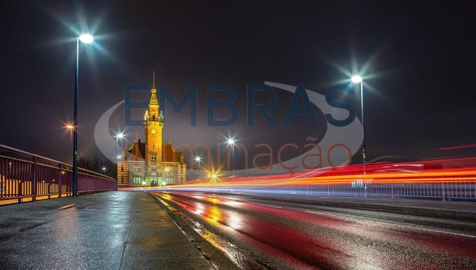 luminária pública com inmetro